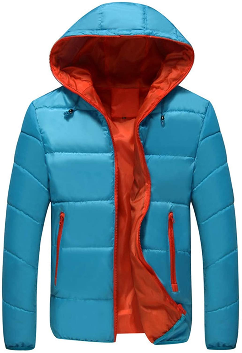 Soluo Men's Hooded Packable Down Jacket Lightweight Quilted Puffer Insulated Winter Coat Outerwear
