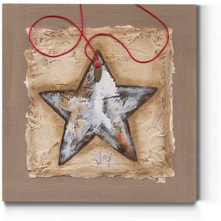 Renditions Gallery Christmas, Canvas Wall Art, Holiday Décor, Hot Chocolate, Holiday Cheer, Gingerbread House -String Star-40X40