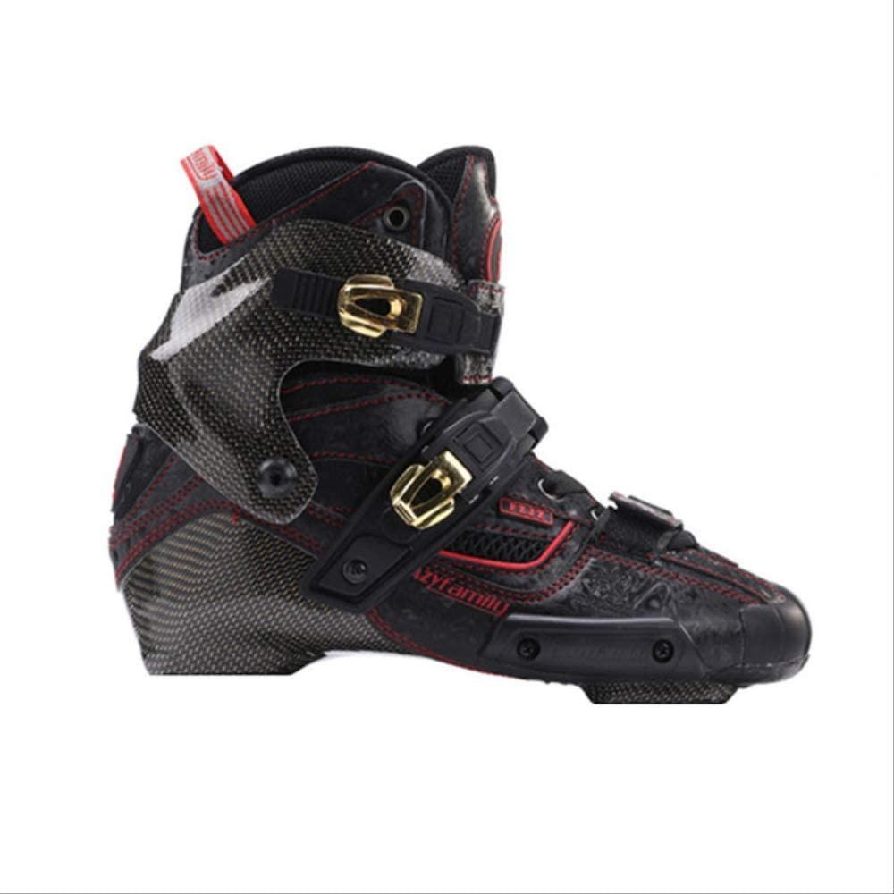 Crazy Carbon Fiber Boot Professional Inline Skates Liner Adult Roller Skating Up Shoes Patines Similar with SEBA Igor Boot 41 Black