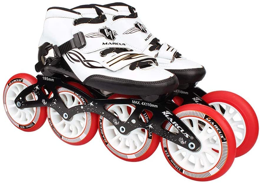 AIAIⓇ Roller Skates 4 Wheels 90MM-110MM Wheel Adjustable Inline Skates, Straight Skating Shoes (4 Colors)