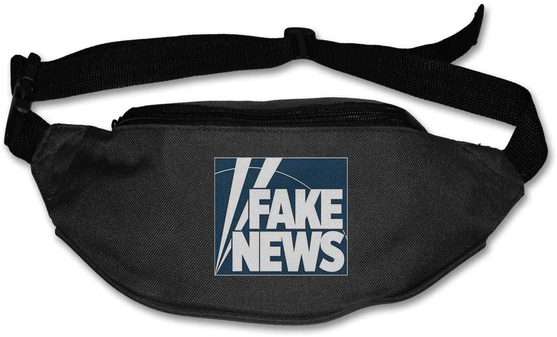 Fake News Channel Running Belt Waist Pack, Sports Runner Bag Sweatproof Workout for Hiking Fitness Jogging Sports