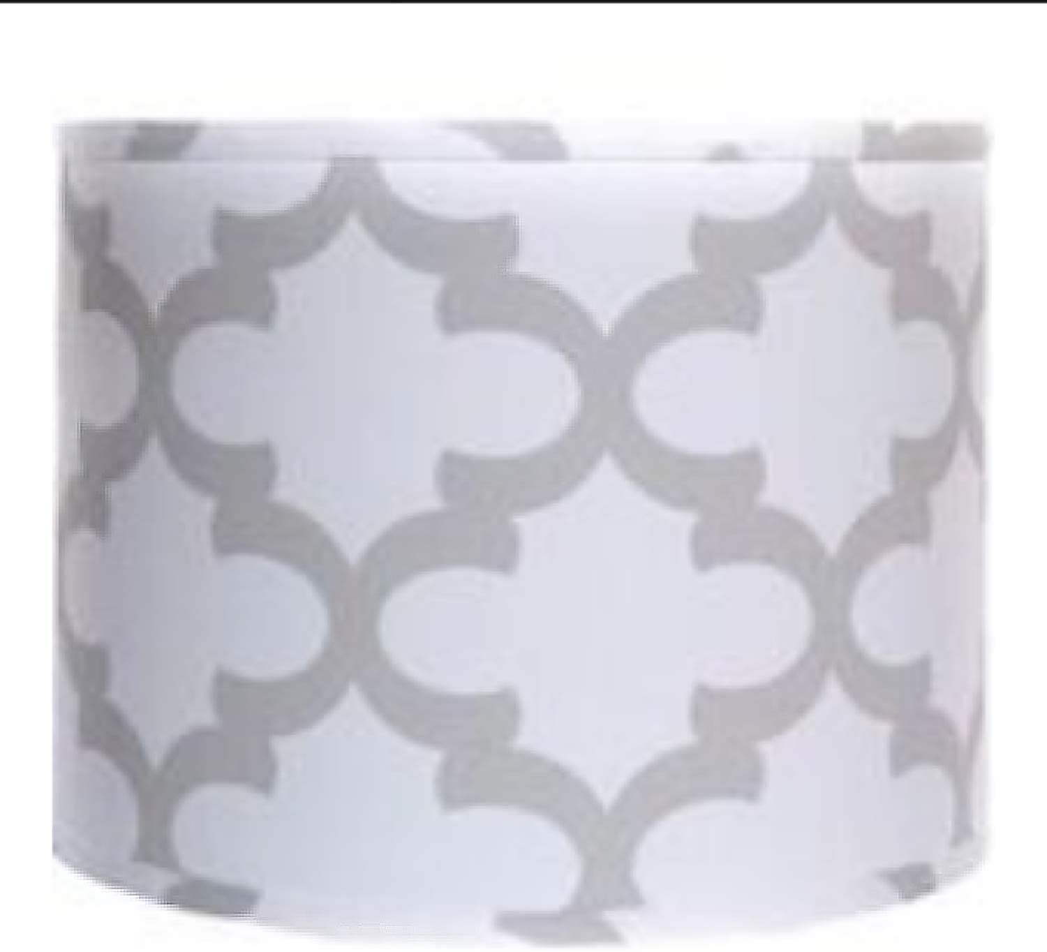 AHS Lighting SD1693-16WDT Mix 'N Match True Drum Lamp Shade with Washer Fitter, 16-Inches, Fynn White & French Grey