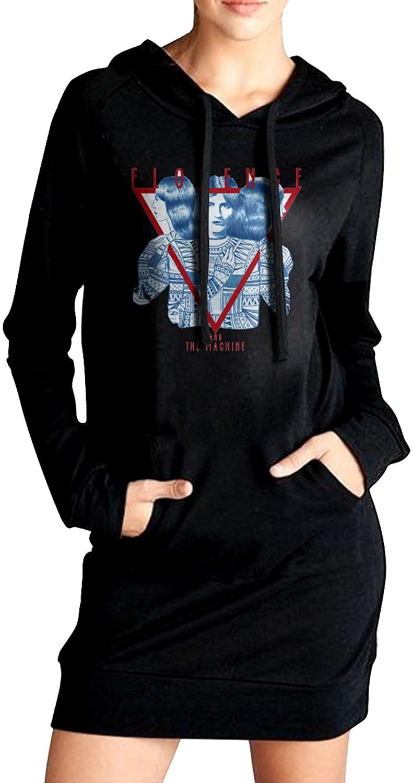 AP.Room Florence and The Machine Women's Long Sleeve Slim Fit Sweater Dress Side Pocket Winter Windbreak