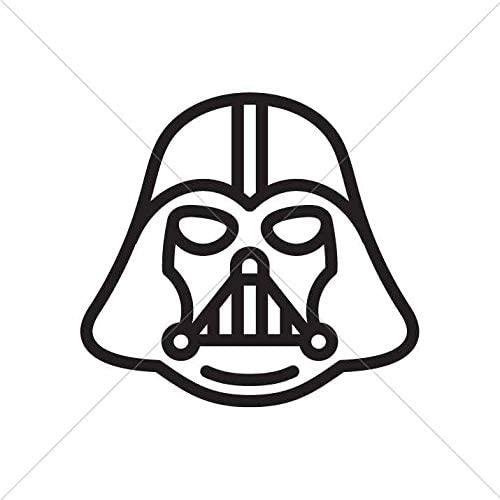 Decal Star Wars Darth Vader Car Window Jet ski 3 X 2,78 in.