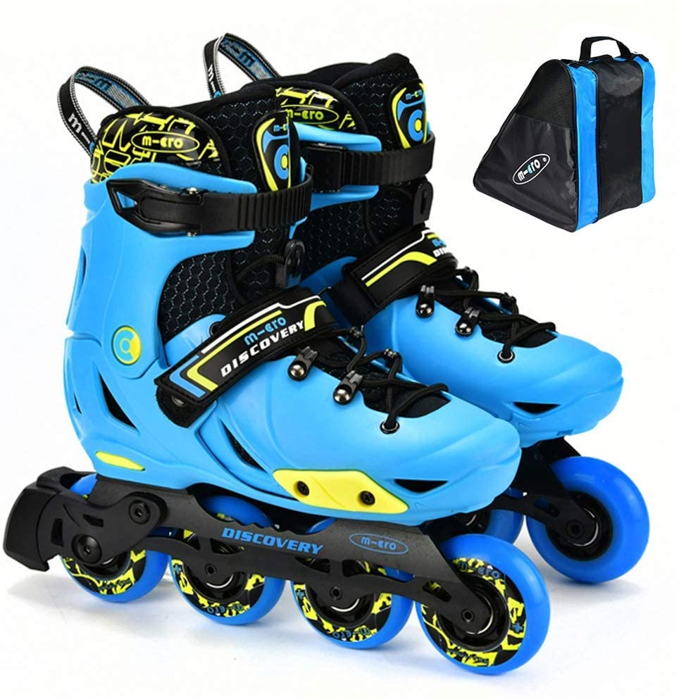 NB-LY Inline Skates Adjustable, Roller Skates Professional for Kids,Triple Protection, Roller Blades for Teens, Suitable for Indoor and Outdoor Environments,B,M(1‐3.5Uk/33‐36Eu)