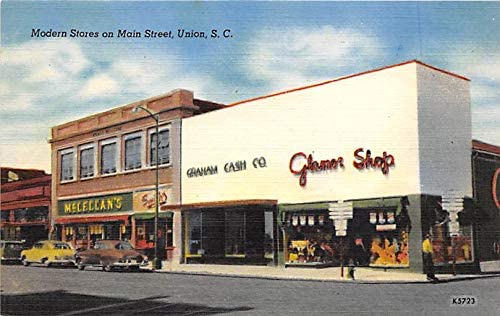 SC, South Carolina Old Vintage Antique Collectables For Sale Modern Stores on Main Street Unused