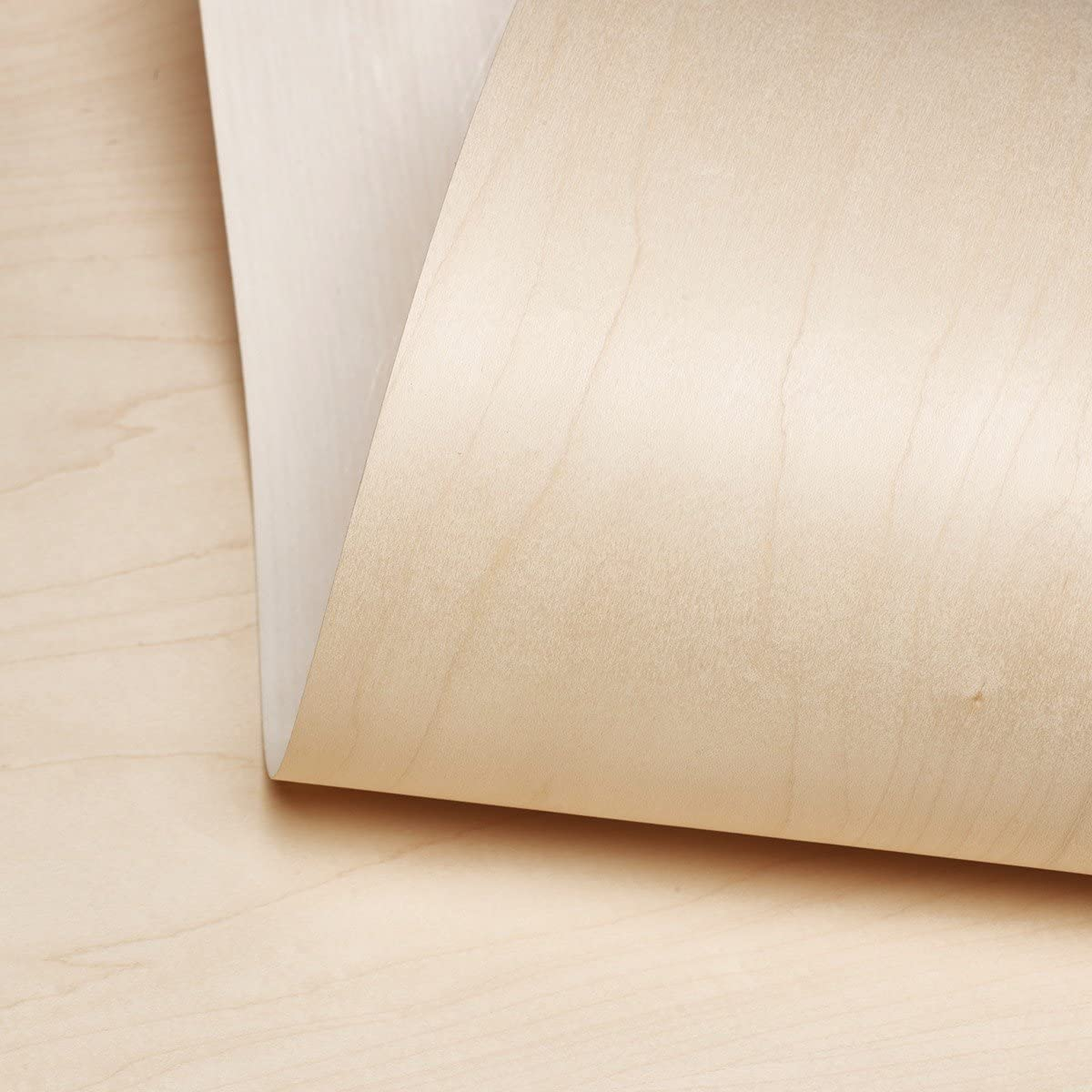 "Edge Supply Birch Wood Veneer Sheet Rotary, 24"" x 96"", 10 mil Paper Back, ""A"" Grade Veneer Face – Easy Apply with Contact Adhesive Birch Veneer Sheet – Veneer Sheets for Restoration of Furniture"