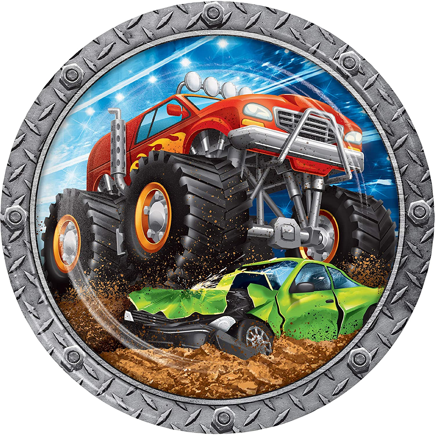 Monster Truck Paper Plates, 24 ct