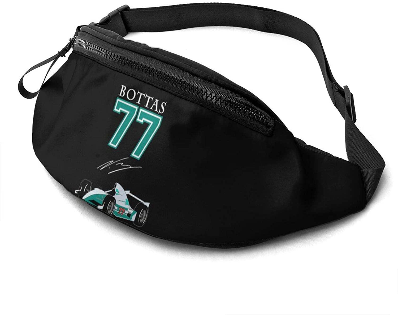 rtyrtyrty Valtteri Bottas Waist Pack - Running Hiking Cycling Sport Casual Waist Bag Hip Pack Outdoor Travel Crossbody Sling Backpack for Men & Women