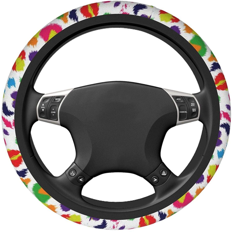 SALLYLOU Car Steering Wheel Cover for Women Men, Universal Anti Slip Elastic Steering Cover Car Decoration - Watercolor Deep Space,