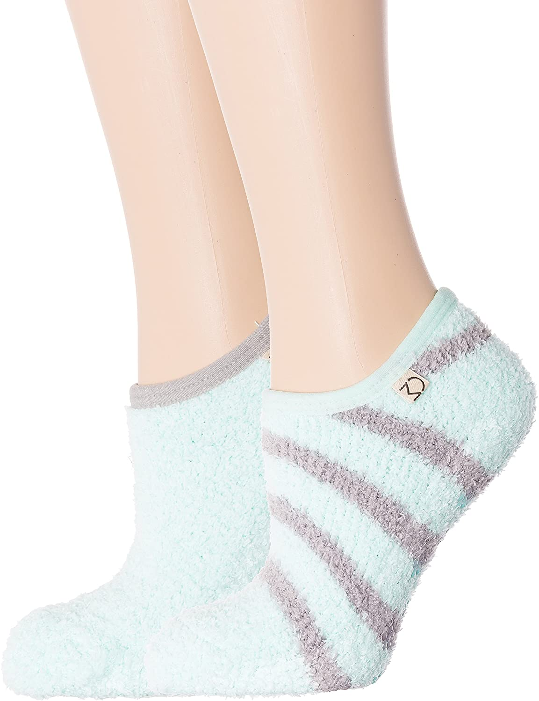 Noble Mount Womens Fuzzy Mary Jane Style Slipper Socks - 2 Pack
