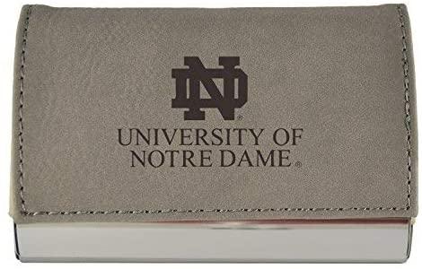 LXG, Inc. Velour Business Cardholder-University of Notre Dame-Grey