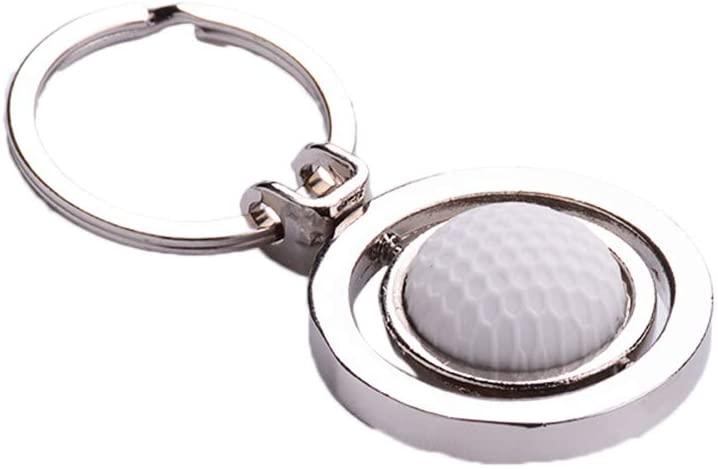 Amosfun Creative Rotating Golf Keychain Metal Pendant Key Ring Keyfob Gift