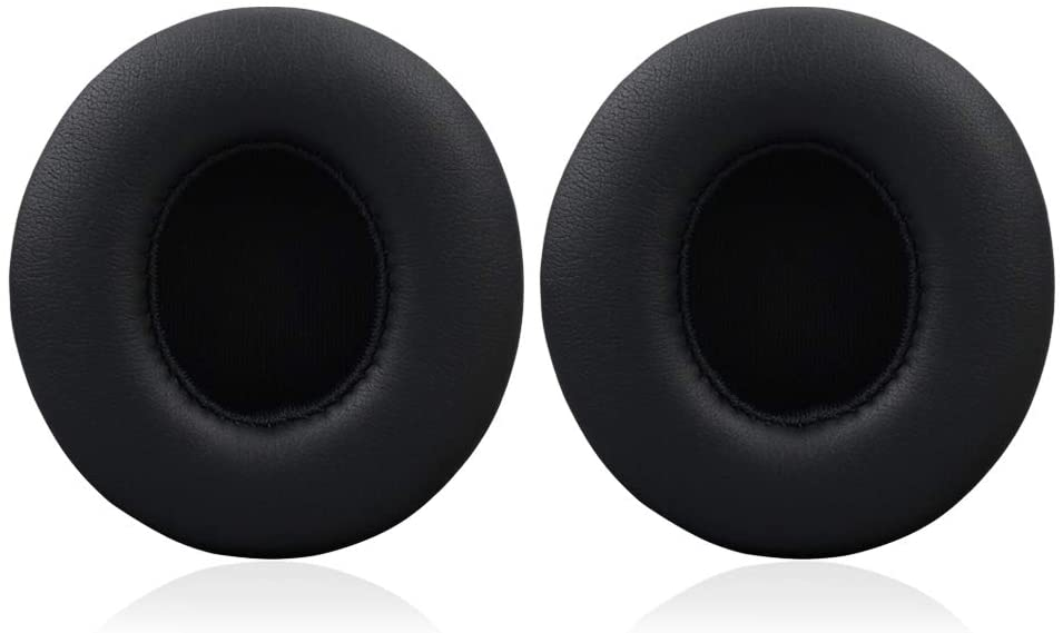 Beats Solo 2.0/3.0 Replacement Earpads, Protein Leather/Memory Foam Ear Cushion Pads Cover Ear Cups for Beats Solo 2.0/3.0 Wireless On Ear Headphones ONLY,Black