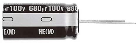 Aluminum Electrolytic Capacitors - Radial Leaded 470uF 35V 105c, Pack of 100 (UHE1V471MPD1TD)
