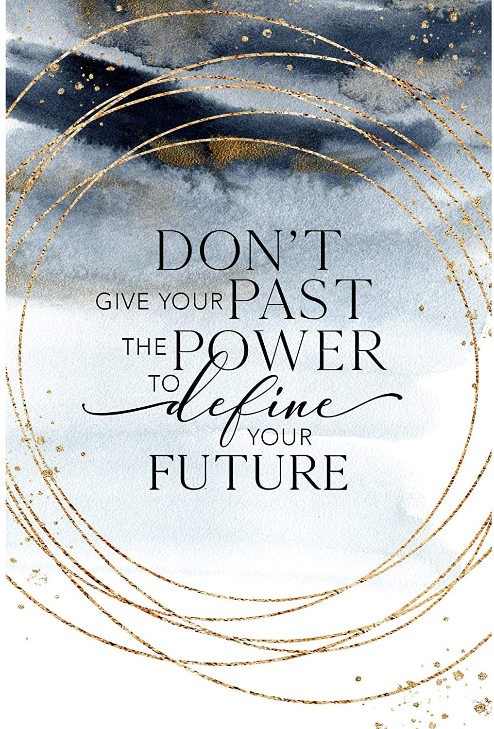 Wood Plaque with Inspiring Quotes 6 inches x 9 inches - Elegant Vertical Frame Wall & Tabletop Decoration | Easel & Hanging Hook | Don't give Your Past The Power to Define Your Future