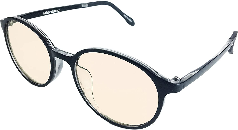 bloobloc Melanin Round Computer Reading Glasses for Kids & Teens - Anti-Blue Light, Anti-Glare & Computer UV Radiation Safety Glasses - Reduce Eye Strain & Fatigue - Flexible Frames