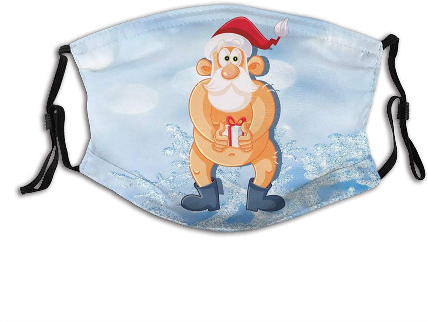 Christmas Funny Santa Claus Winter Xmas Face Mask Adjustable Washable, For Adult Fashion Scarves Balaclavas With 2 Filters