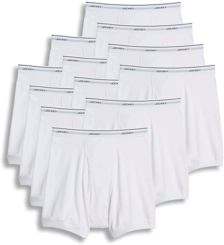 Jockey Men's Underwear Classic Boxer Brief - 12 Pack
