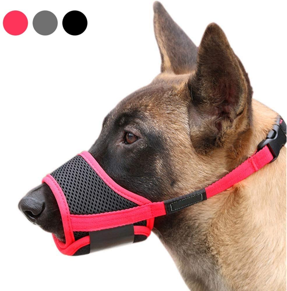 ABPF Dog Muzzles for Anti-Biting-Barking,Soft Nylon Mesh Breathable Pets Mouth Cover,with Adjustable Loop Strap,for Small/Medium/Large Dog