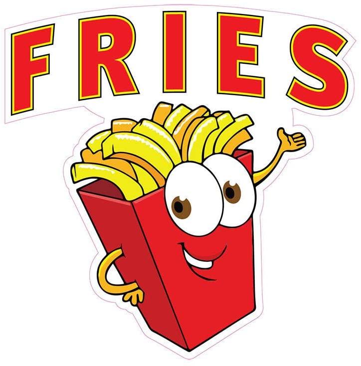 Fries Concession Restaurant Food Truck Die-Cut Vinyl Sticker 8