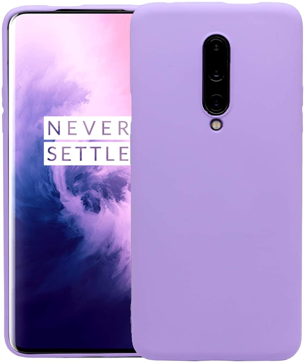 OnePlus 7 Pro Case, Flexible Soft Ultra-Thin TPU Rubber Protecting Case for OnePlus 7 Pro Phone, Shock Absorption & Scratch Resistant Grippy Stylish Case [Purple]