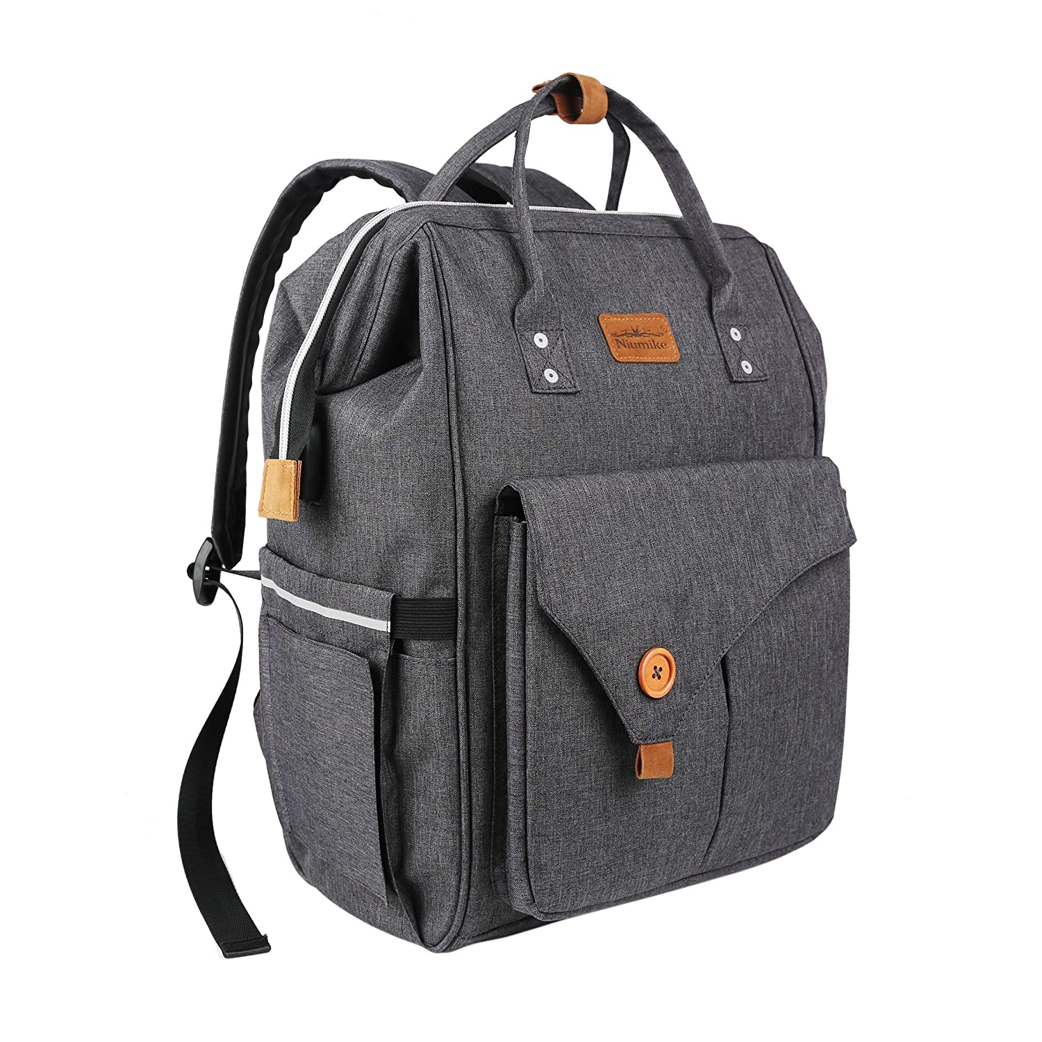 Diaper Bag Backpack with Changing Pad, Niumike Multifunction Travel Large Capacity Waterproof Maternity Baby Nappy Bags
