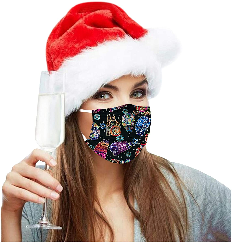 10/50/100 Pcs Christmas Respirator Breathable Mask 3 Ply Nonwoven Safe Soft Single Use