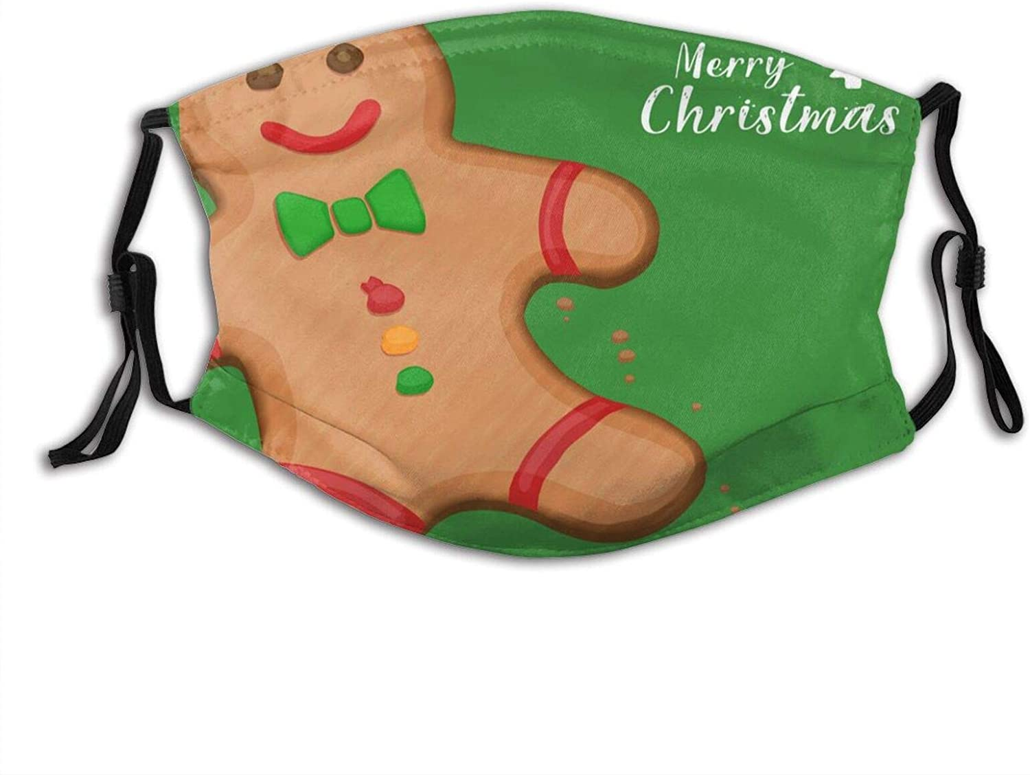 Christmas Elk Paper Cut Face Mask Washable & Reusable - Adjustable & Breathable Fliter Fashion Scarf