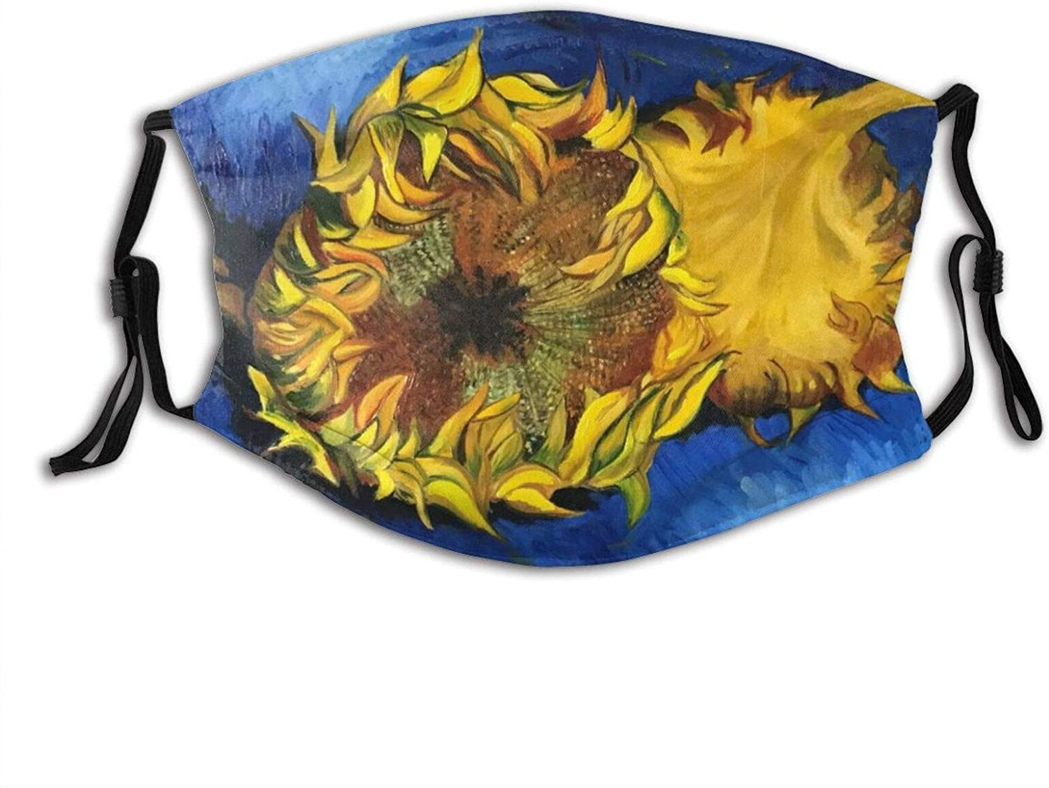 angry sunflower face mask Reusable Adjustable with 2 Filter for man woman, Cloth Mouth Windproof Fashion Scarf