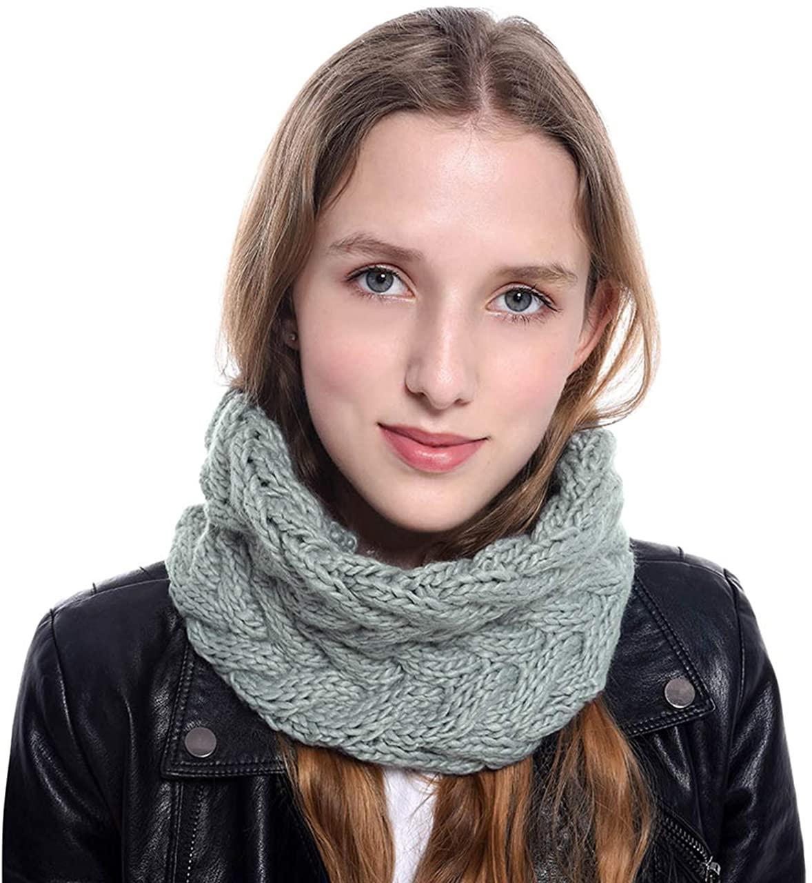Ayliss Women Infinity Scarf Winter Knit Neck Warmer Loop Scarf