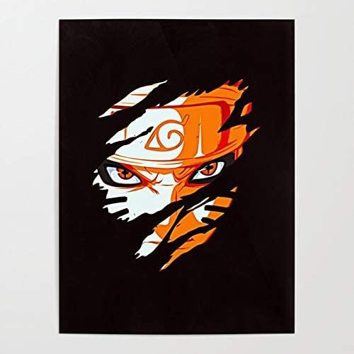 Naruto Digital Anime Manga Scroll Poster Wall Art Print Decor,50 x 70 cm,No Frame