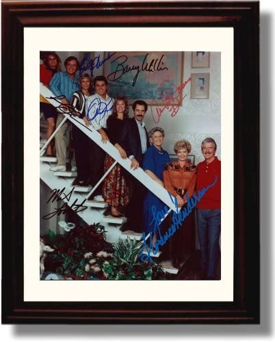 Framed Brady Bunch Autograph Replica Print - Brady Bunch Cast