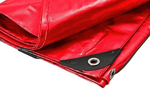 Canopies and Tarps Red Premium Heavy Duty Poly Tarp, 18' x 24' – Triple Layer Polyethylene Material, Arctic Flexibility
