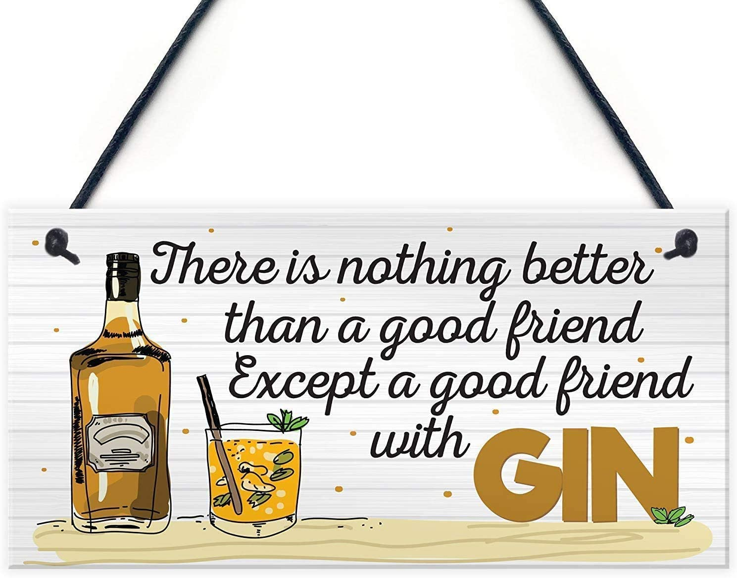 MAIYUAN There is Nothing Better Than a Good Friend Hanging Plaque Wall Bar Signs Friendship Gifts 10x5(SLY926)