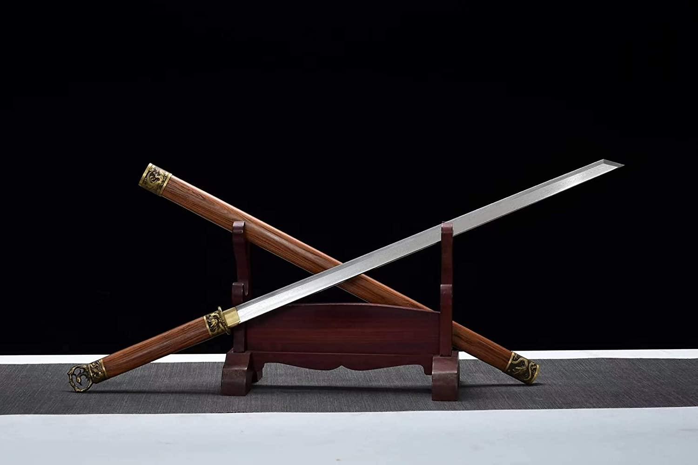 Han jian,Handmade Art(Damascus Steel Blade,Brass Fittings) Full Tang,Chinese Sword