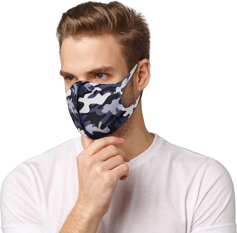 Tie Dye Face Mask for Men & Women Reusable Washable Cloth Face Mask Camo & Solid Colors