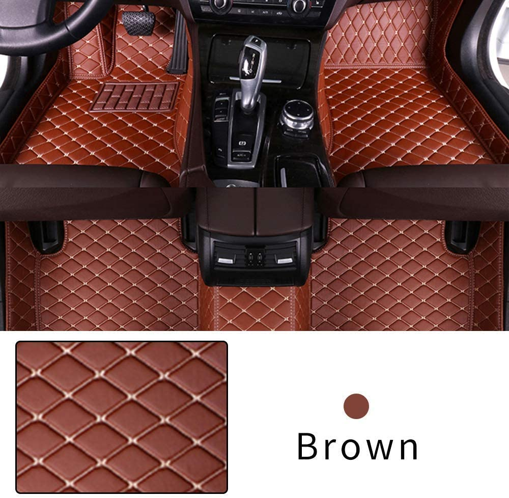 Car Floor Mat for Nissan Pathfinder 2005-2014 Heavy Duty XPE Leather Full coverage Interior Protection Floor Mat Brown