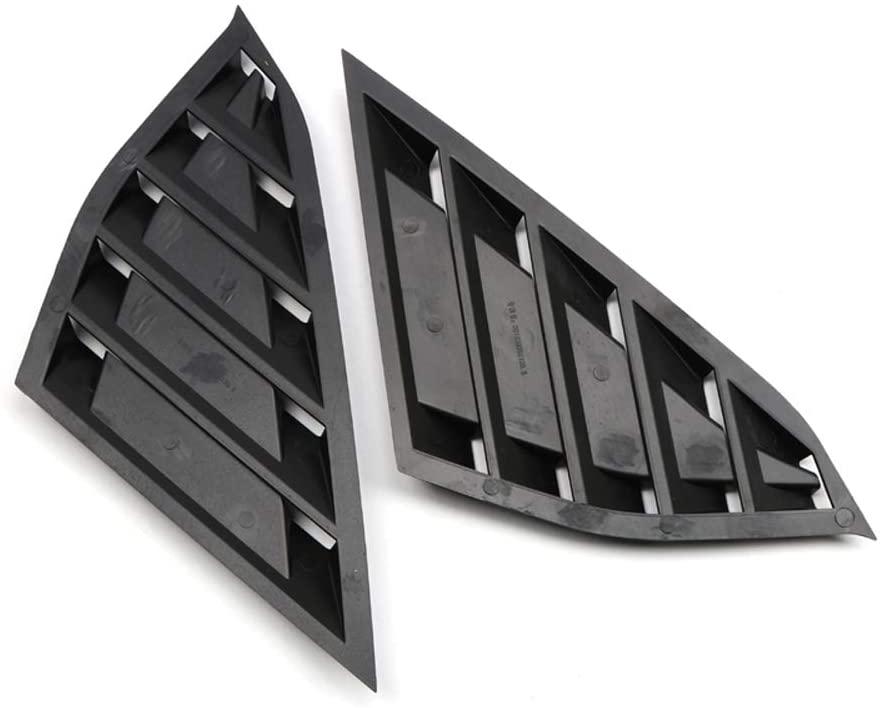 Bishop Tate Car Styling Matt Black Rear Side Quarter Window Vent Scoop Louver Panel Cover Trim for Honda Accord 2018-2020