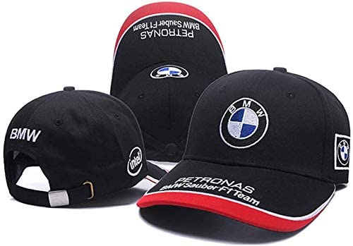Westion BMW Logo Embroidered Adjustable Baseball Caps for Men and Women Hat Travel Cap Car Racing Motor Hat fit BMW Black