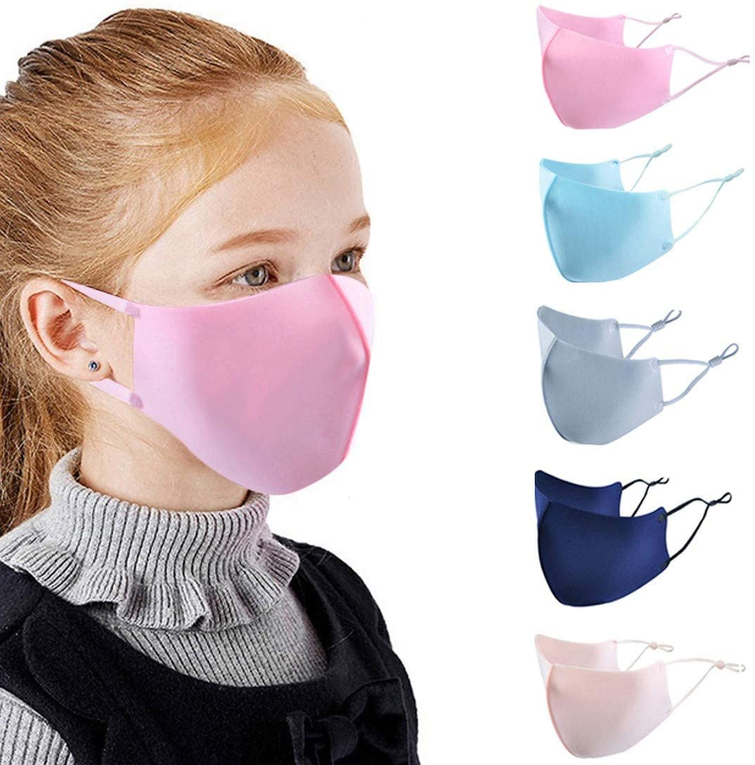 5PCS Solid Color Kids Ma$ks Cartoon Anti-pollution Cute Mouth Anti-dust Ma#k
