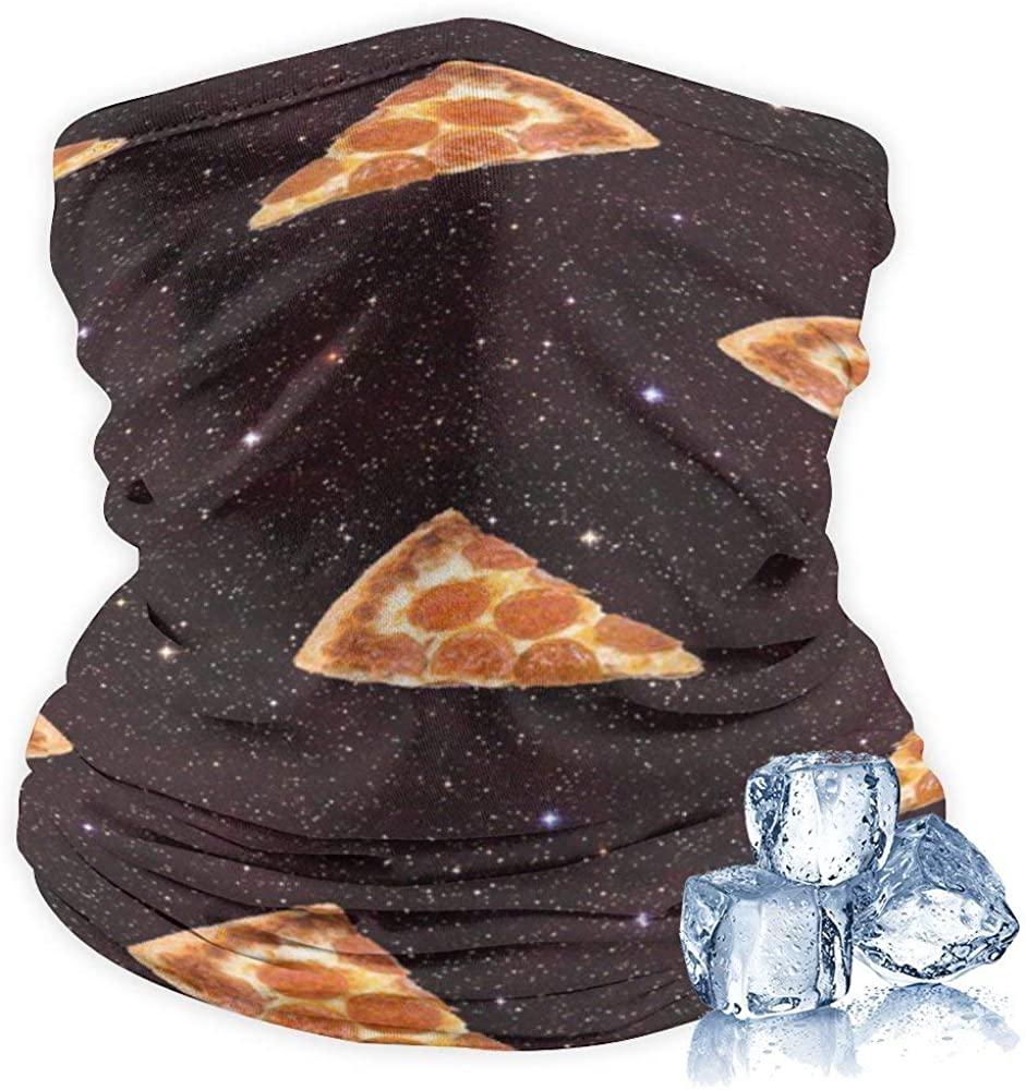 Cooling Gaiter Lightweight Thin Neck Gaiter Summer Protection Face Mask Headwear Headband Bandana, Pizza Galaxy
