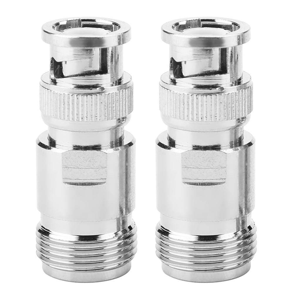 2pcs Type N Female to BNC Male RF Connector Coaxial Adapter Test Converter