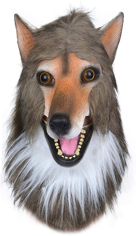 Wolf Dog Head Mask, 2020 New Wolf Dog Headgear Cosplay Role Playing, Wolfdog Headgear Latex Costume Prop Masquerade, Novelty Costume For Halloween