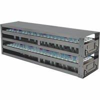 Stellar Scientific - Upright Freezer Drawer Rack for 8-10ml Blood Sample Tubes, 2 Drawer, Holds 120 Tubes, 1/EA