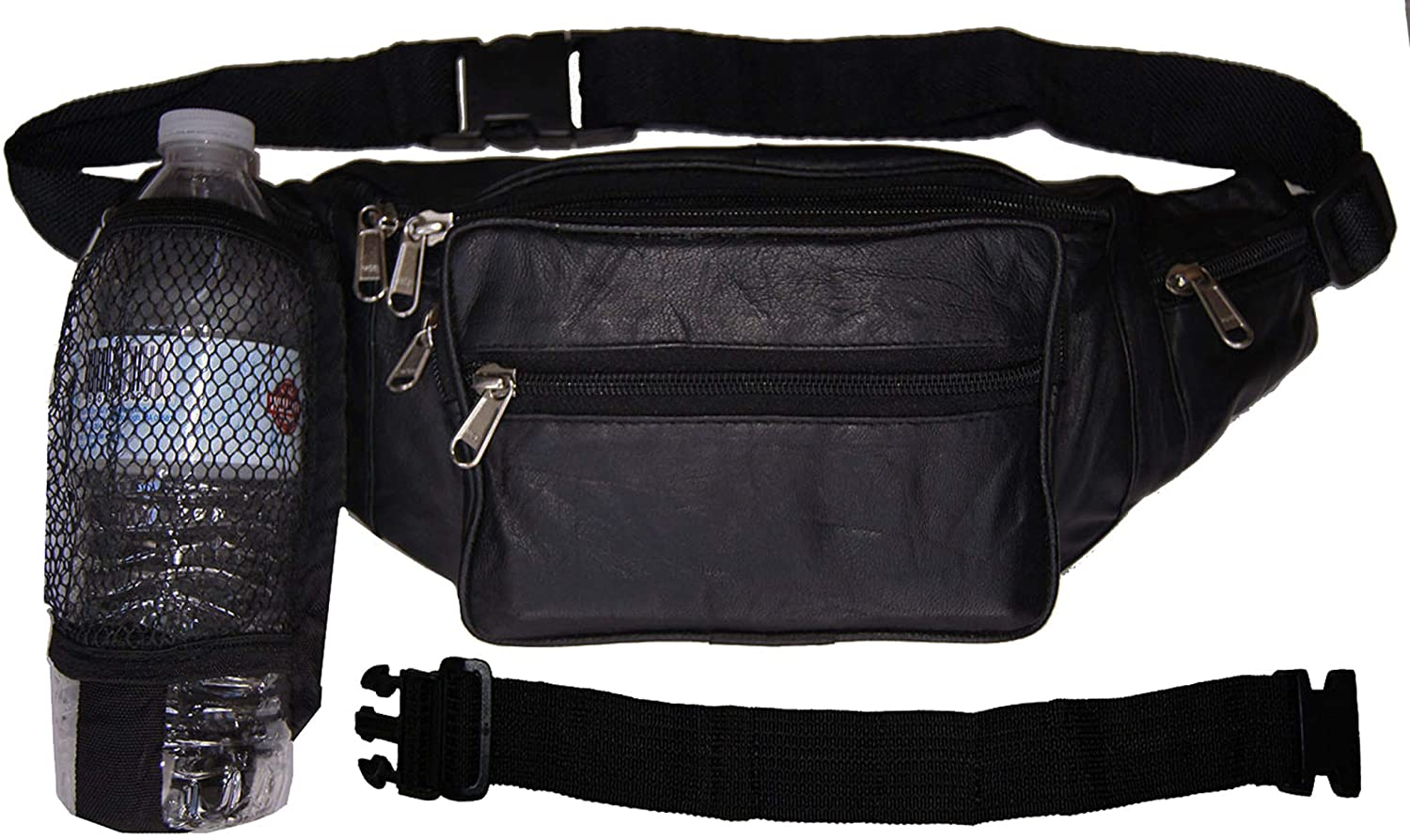 AG Wallets Netted Water Bottle Fanny Pack Waist Bag Pouch With 18