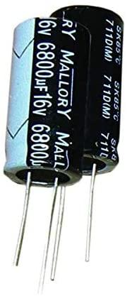 Aluminum Electrolytic Capacitors - Radial Leaded 1000UF 35V, Pack of 10 (SK102M035ST)