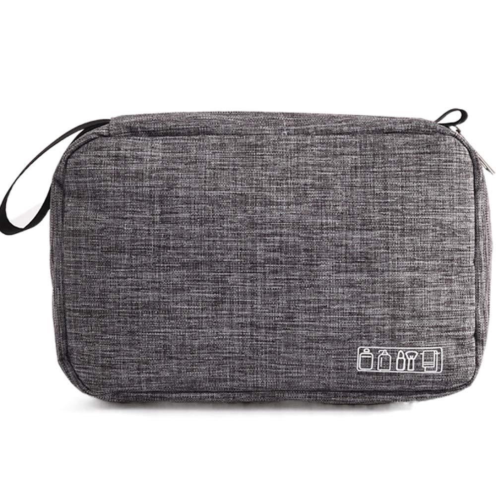 Toiletry Bags Traveling Women Men Cosmetic Bag Portable Hanging Water-Resistant Shower Bag (Gray)