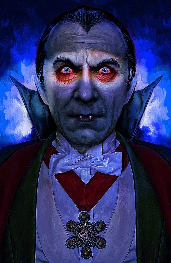 Signed Mark Spears Monsters Dracula Comic Book Art Print 11x17 Horror Movie Monsters Poster