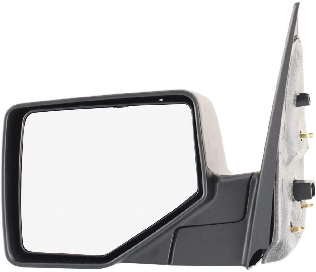 For Ford Explorer Mirror 2006 07 08 09 2010 Driver Side Manual Folding   Non-Heated   Chrome   w/Black Base